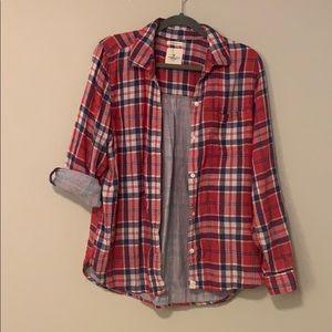 Button down plaid shirt